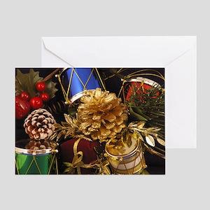 Drums & Pinecones Greeting Card