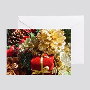 Present & Pinecone Greeting Card