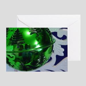 Green Ornament Greeting Card
