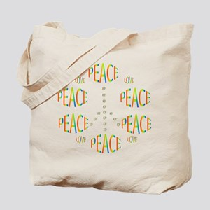 PEACE LOVE AND JOY Tote Bag