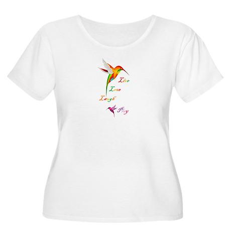Hummingbird Live Love Laugh P Women's Plus Size Sc
