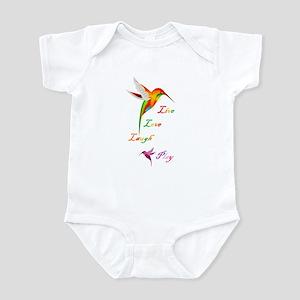 Hummingbird Live Love Laugh P Infant Bodysuit
