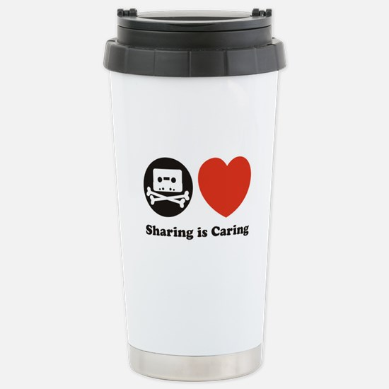 sharing is caring, pro piracy Stainless Steel Trav