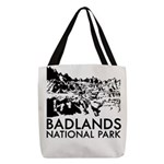 Badlands National Park Polyester Tote Bag