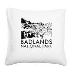 Badlands National Park Square Canvas Pillow