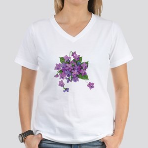 Violets Women's V-Neck T-Shirt