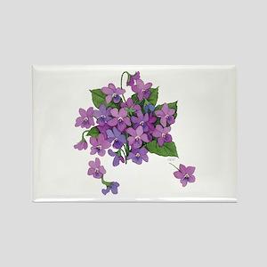 Violets Rectangle Magnet