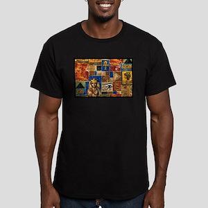 Egyptian Art Men's Fitted T-Shirt (dark)