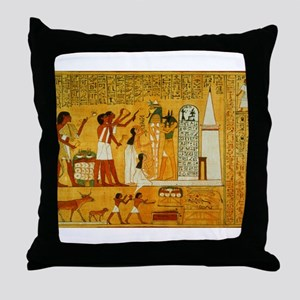 Egyptian Art Throw Pillow