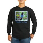 Steller's Jay Long Sleeve Dark T-Shirt