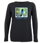 Steller's Jay Plus Size Long Sleeve Tee