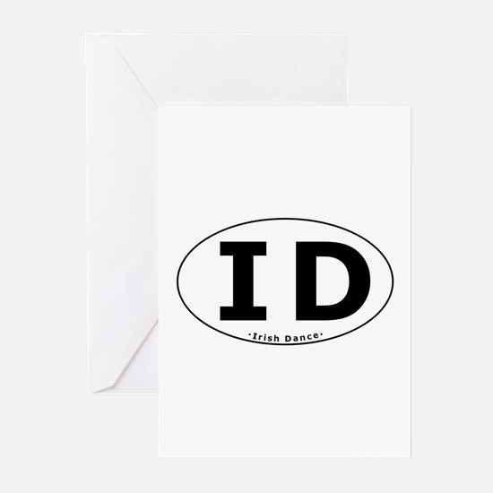ID Oval Greeting Cards (Pk of 20)