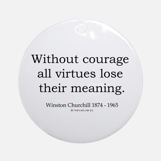 Winston Churchill 32 Ornament (Round)