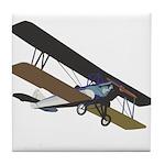 Pilot Biplane Tile Coaster
