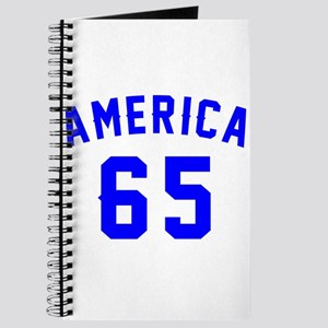 America 65 Birthday Journal