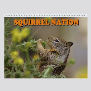Squirrel Nation Wall Calendar