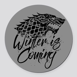 GOT Winter Is Coming Round Car Magnet