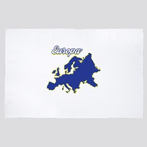 Europe Map Country Patriotism National 4' x 6' Rug