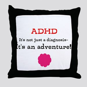 ADHD Adventure Throw Pillow