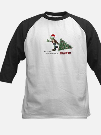 Zombie Christmas Kids Baseball Jersey