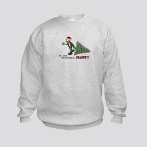 Zombie Christmas Kids Sweatshirt