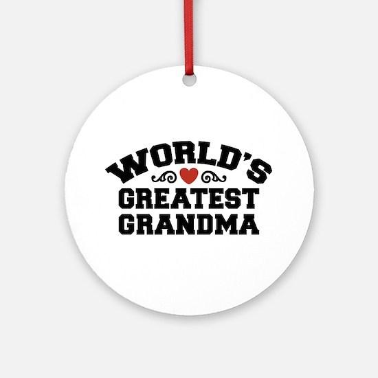 World's Greatest Grandma Ornament (Round)