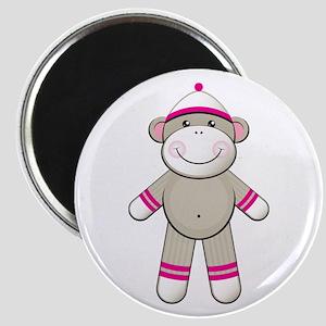 Pink Sock Monkey Magnet
