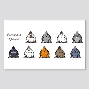 Netherland Dwarf Colors Rectangle Sticker