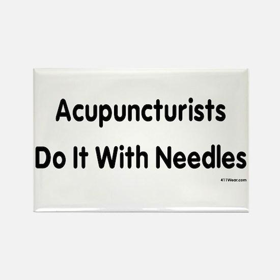 Cute Acupuncturist Rectangle Magnet