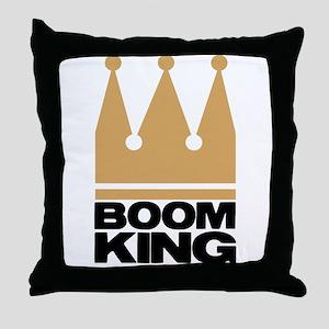 Boom King Throw Pillow