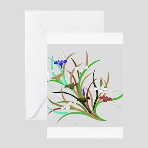 Japanese textile Kakitsubata Greeting Card