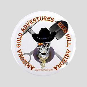 """Arizona Gold Prospecting 3.5"""" Button"""