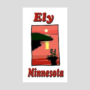 Ely Minnesota Rectangle Sticker