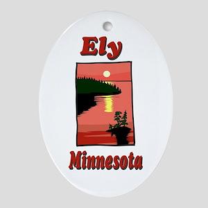 Ely Minnesota Oval Ornament