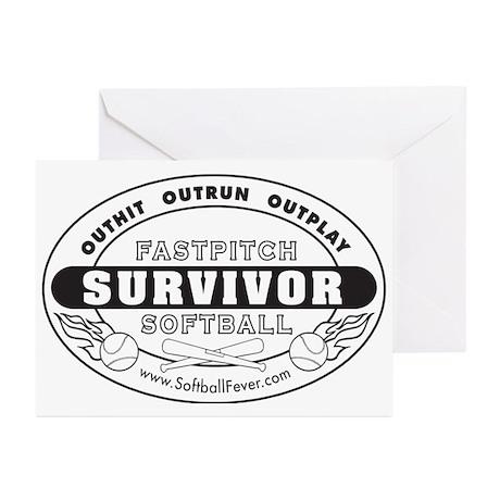 Fastpitch Softball Survivor Greeting Cards (Packag