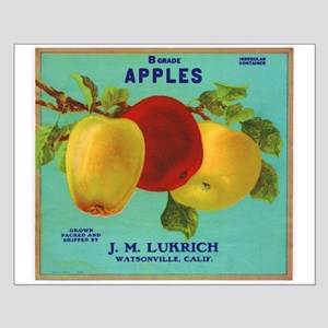 Vintage Fruit & Vegetable Lab Small Poster