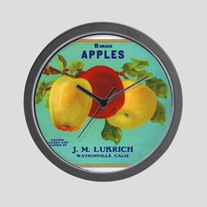 Vintage Fruit & Vegetable Lab Wall Clock