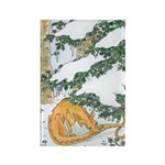 Snow Dragon II Rectangle Magnet (10 pack)
