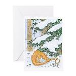 Snow Dragon II Greeting Card