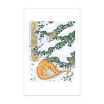 Snow Dragon II Mini Poster Print