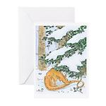 Snow Dragon II Greeting Cards (Pk of 10)