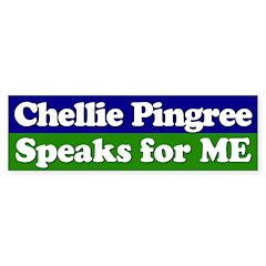Chellie Pingree Speaks for ME Bumper Bumper Sticker
