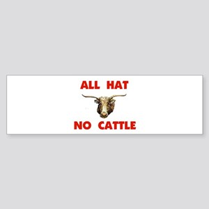 REAL COWBOYS HAVE CATTLE Bumper Sticker (10 pk)
