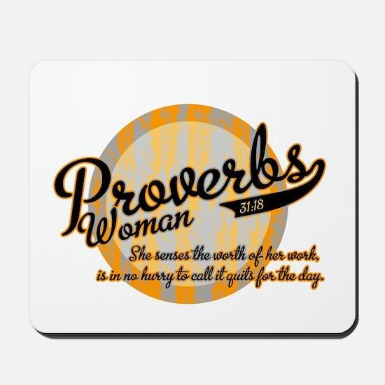 Proverbs Woman Mousepad