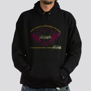 Makes Her Arms Strong Hoodie (dark)