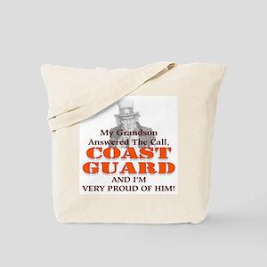 My Coast Guard Grandson Answered Tote Bag