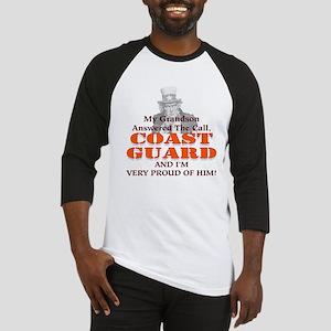 My Coast Guard Grandson Answered Baseball Jersey
