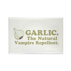 Garlic Vampire Repellent Rectangle Magnet