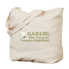 Garlic Vampire Repellent Tote Bag