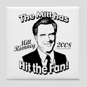 Mitt has Hit the Fan 2008 Tile Coaster